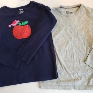 Girls set of 2 size 6 long sleeve tees Boden/Gymb